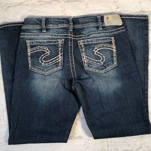 Silver Suki Jeans.  Size 32/32.